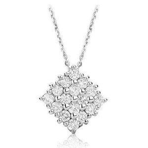 Jewelry - Round Cut 4.00 Carats Diamonds Cluster Pendant Nec